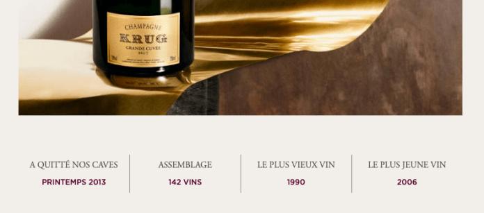 Discovery Day 2018 : Détail Krug ID sur bouteille Grande Cuvée
