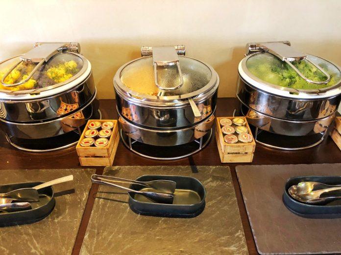 Brunch à l'hôtel Ermitage : Les légumes chauds