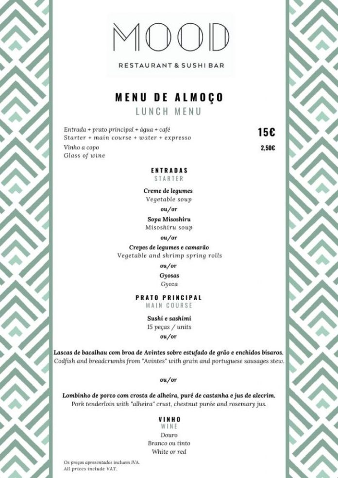Mood Restaurant & Sushi Bar : Menu de la semaine