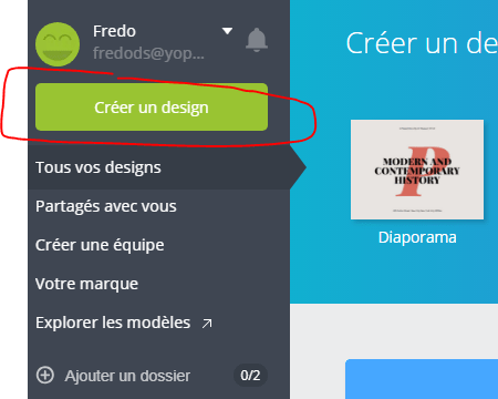 Canva - Creer un Design
