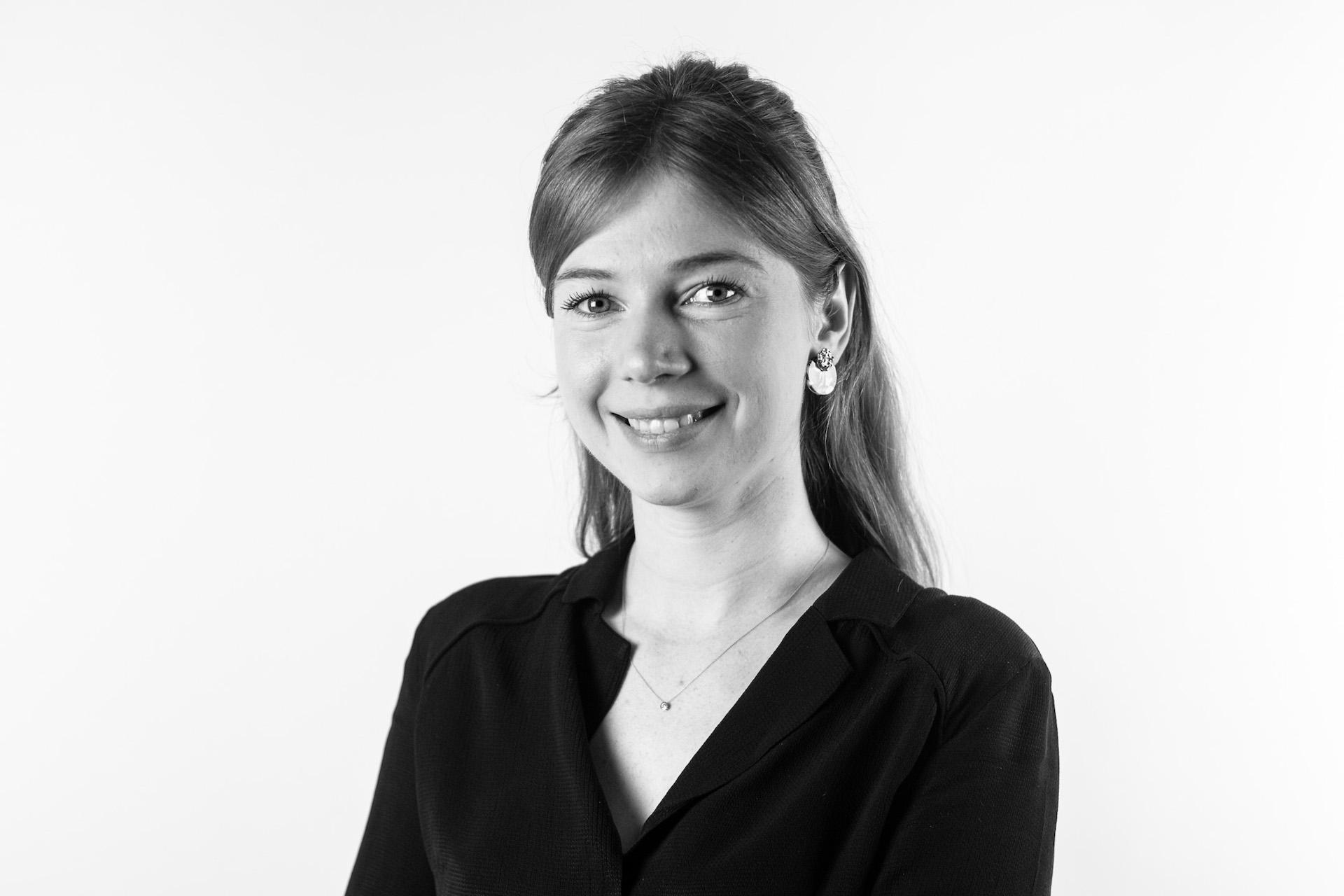 Zwart-wit zakelijk portret