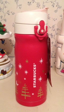 Starbucks City Mug 2012 Christmas Thermos Red From Japan