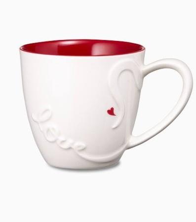 Starbucks City Mug 2014 Valentines Day White With Red