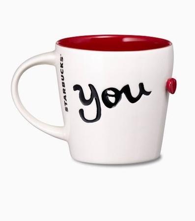 Starbucks City Mug 2014 Valentines Day YOU Mug 12oz From