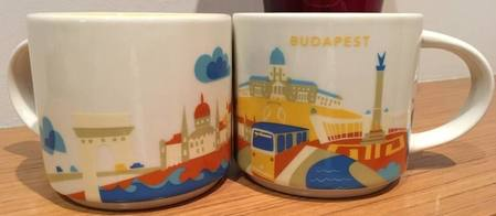 Starbucks City Mug You are Here  Budapest,Hungary