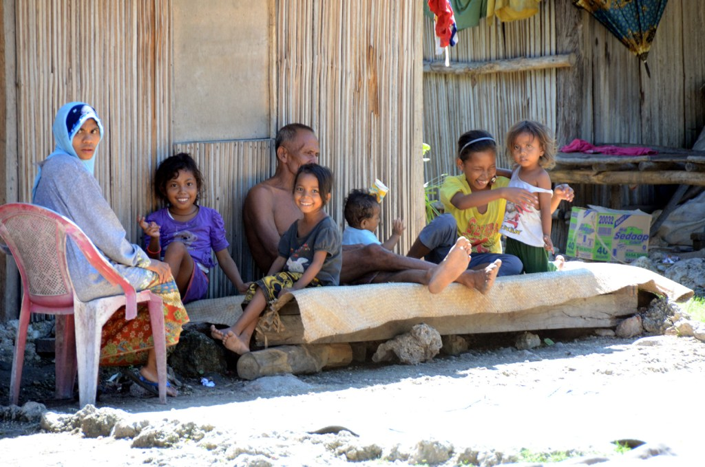 Family waiting it out in Noelbaki camp
