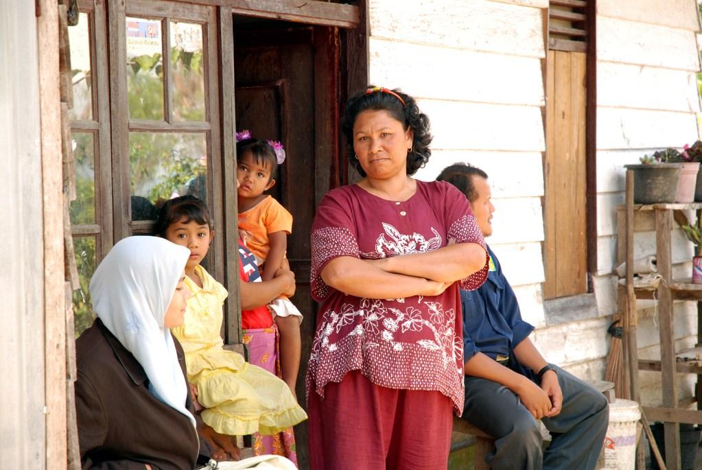 Resettled family