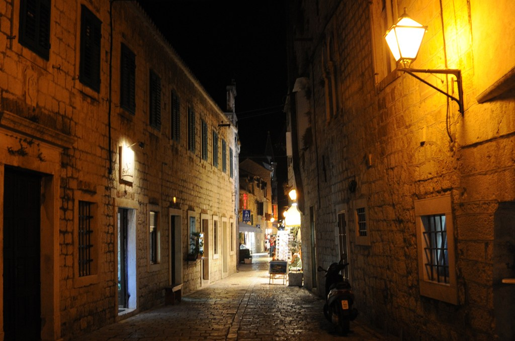 Trogir at night