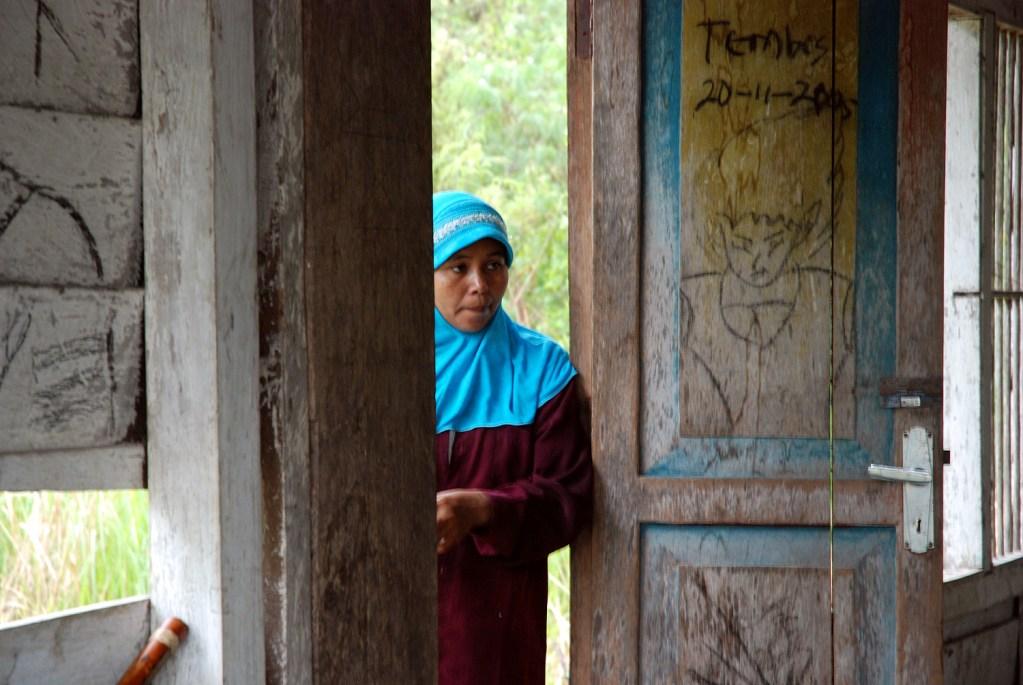 Woman listening in