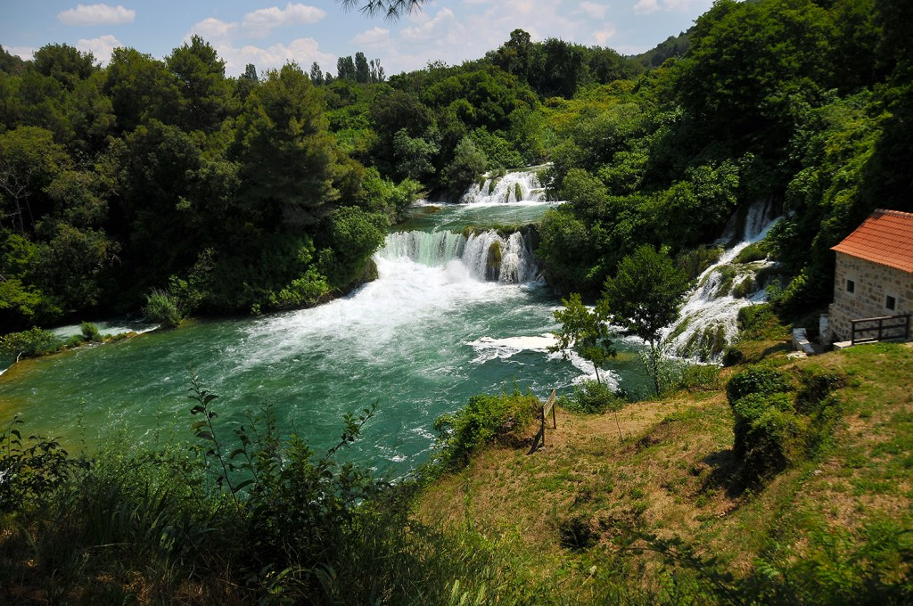 Waterfall in Krka parc, Croatia