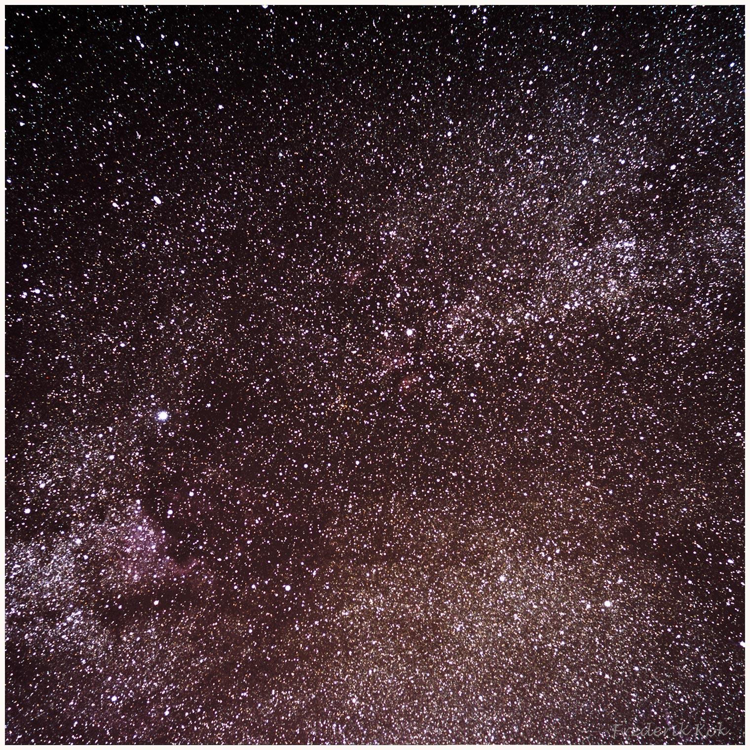 Milky way around cygnus