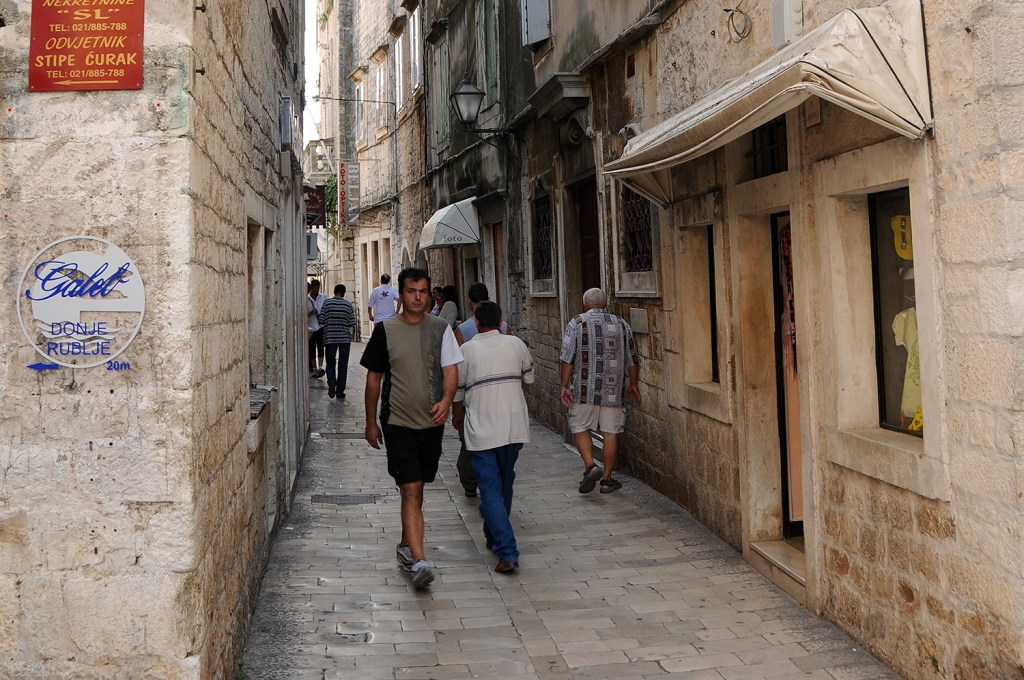Street life in Trogir