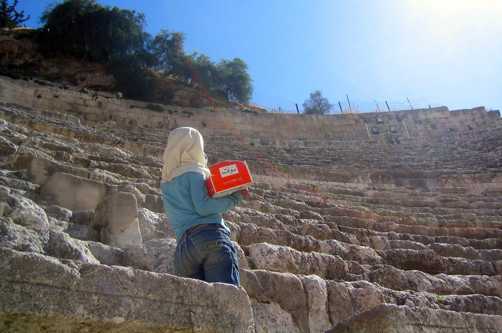 The girl in the amphitheatre