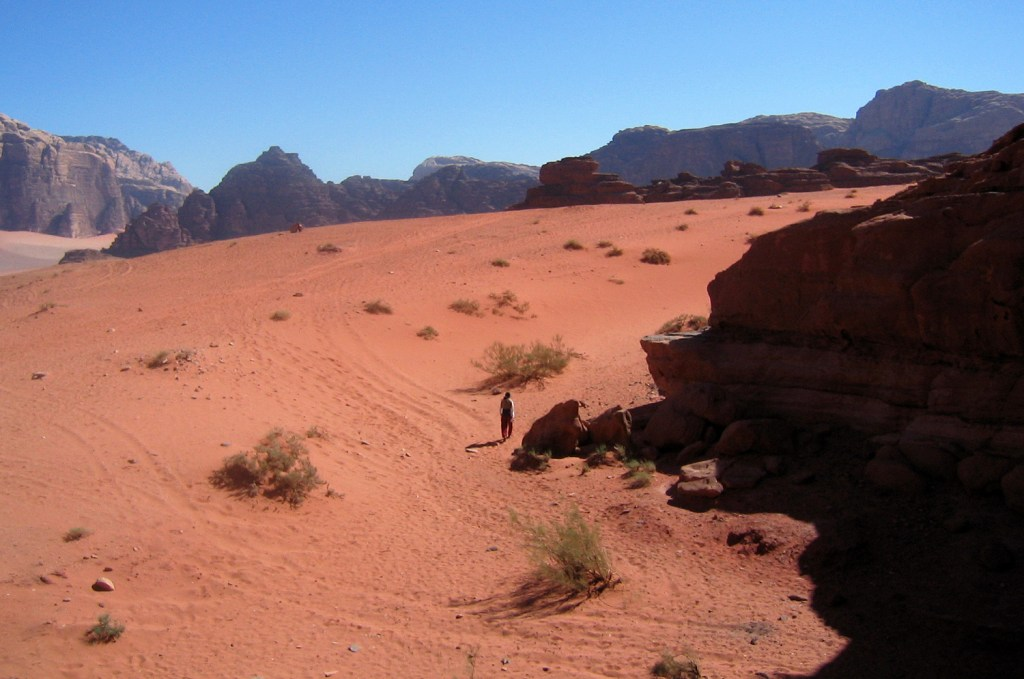 Walking in the Wadi Rum