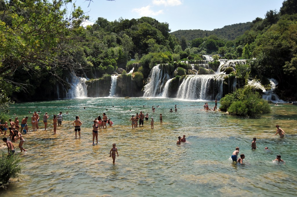 Bathing in krka parc