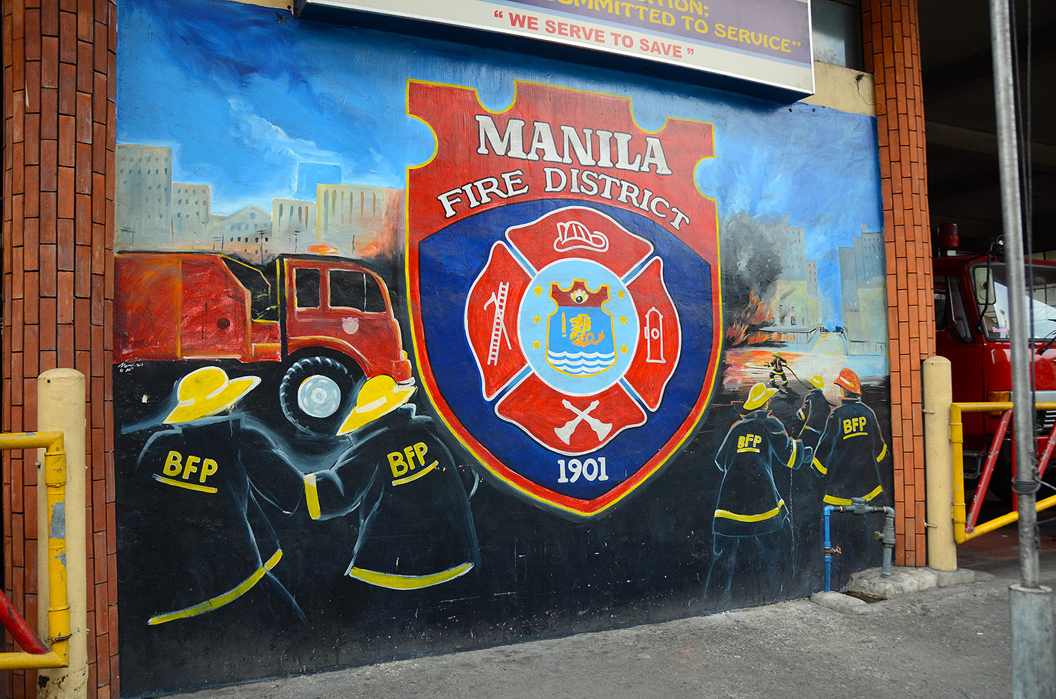 fire brigade in Manilla
