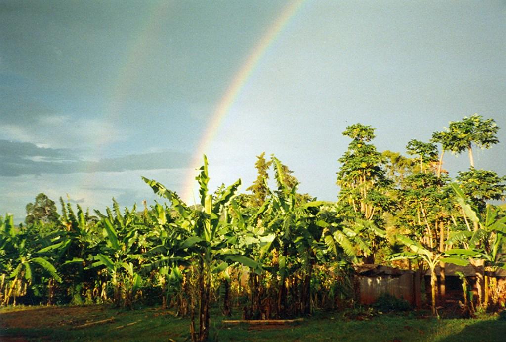 rainbow over Kibondo