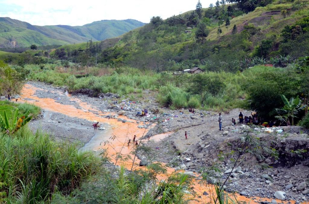 Red river in Papua New Guinea