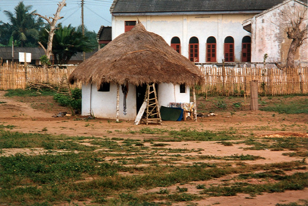 Little hut on the gold coast in Ghana 1997