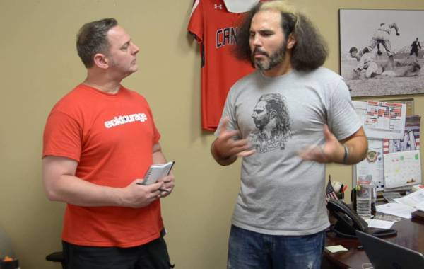 Former WWE Writer Kevin Eck with Matt Hardy