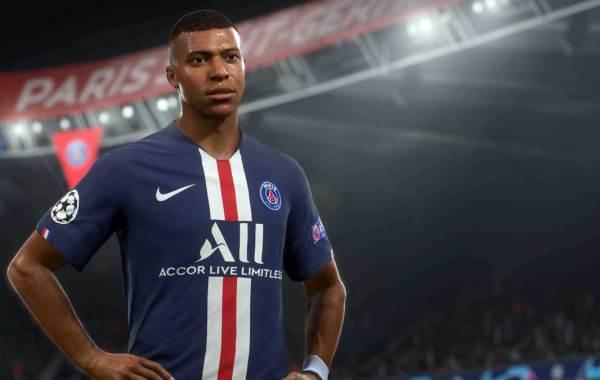 Paris Saint-Germain forward Kylian Mbappe. EA Sports FIFA 21 cover athlete.