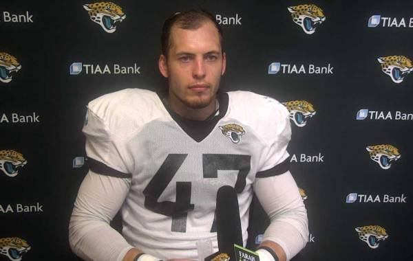 Jacksonville Jaguars linebacker Joe Schobert. Courtesy of Jaguars.com.
