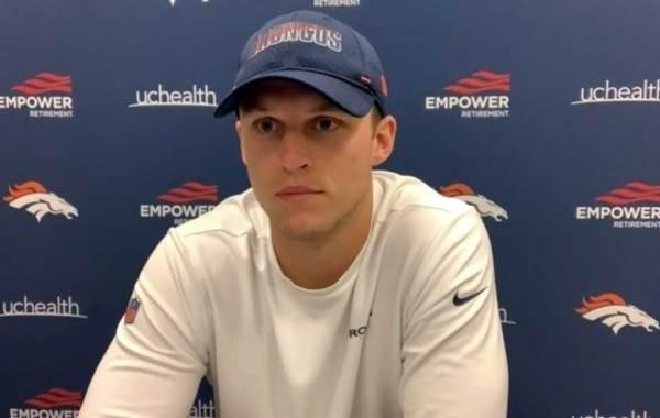 Denver Broncos quarterback Brett Rypien. Courtesy of Denver Broncos.