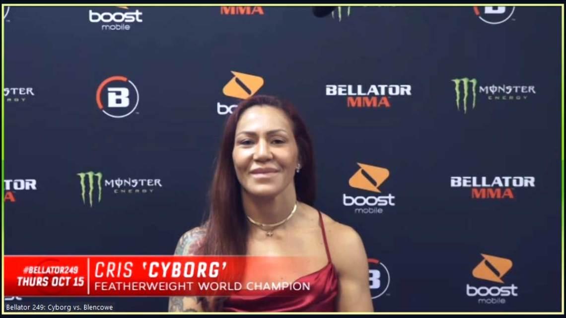 Bellator featherweight champion Cris Cyborg Justino. Courtesy of Bellator MMA.