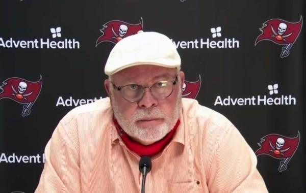 Tampa Bay Buccaneers head coach Bruce Arians. Courtesy of Bucs.