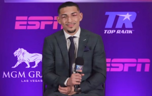 Unified world lightweight champion Teofimo Lopez Jr. Courtesy of Top Rank Boxing.