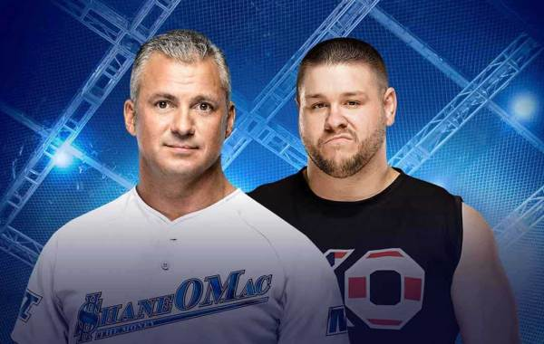 WWE Hell in a Cell 2017: Shane McMahon vs. Kevin Owens inside HIAC. Courtesy of WWE.com.