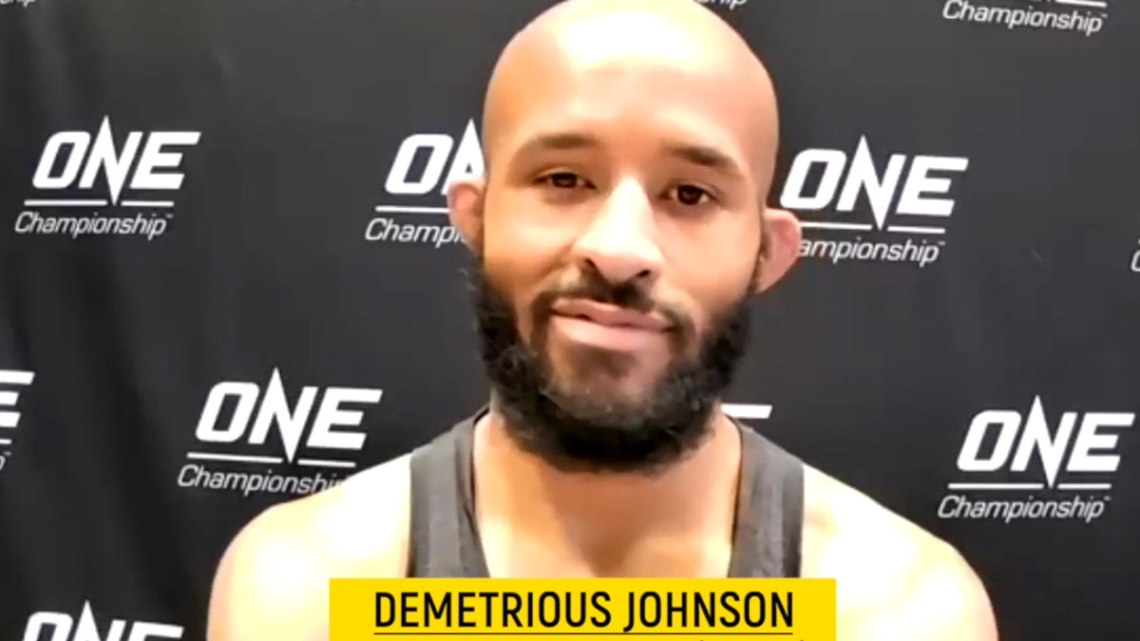 """Former UFC flyweight champion Demetrious """"Mighty Mouse"""" Johnson. Courtesy of ONE Championship."""