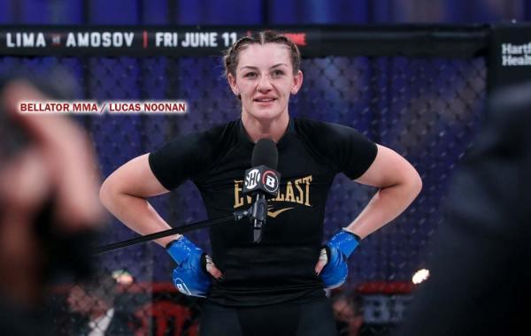 Bellator fighter Leah McCourt. Courtesy of Bellator MMA / Lucas Noonan.