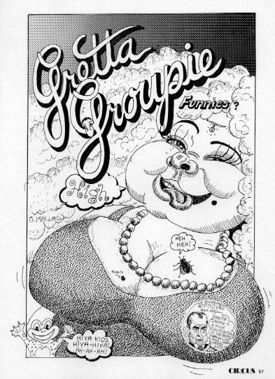 Gretta Groupie comic strip ca1970, ©Circus magazine