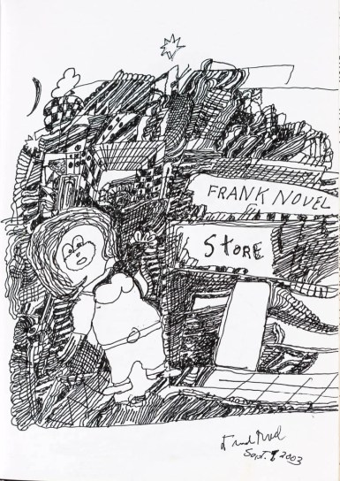 Frank Novel sketchbook page reproduction