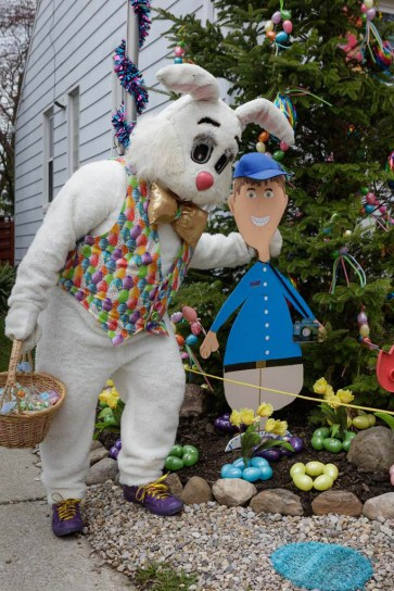 Peter Cottontail with Fred Scruton likeness