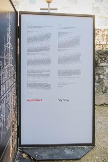 Architecture (Billy Tripp); exhibition at Art Brut 2015