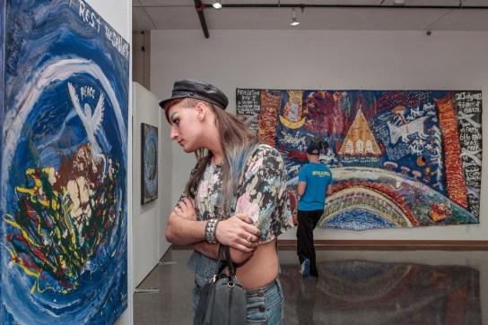 William Thompson Exhibition Opening, Bruce Gallery; Edinboro University, PA 2015