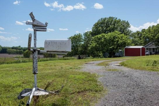 Hubbell home mailbox; Howard, KS 2019