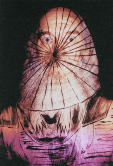 Slide projection self-portrait photograph; ca 2005