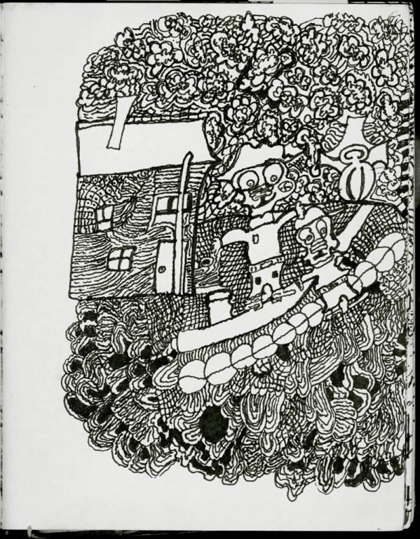 Frank Novel sketchbook page reproduction