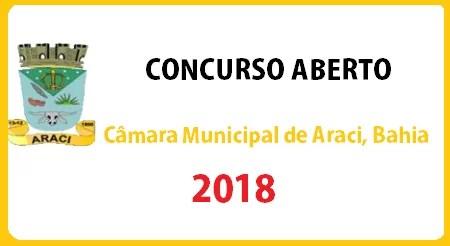 Concurso da Câmara Municipal de Araci