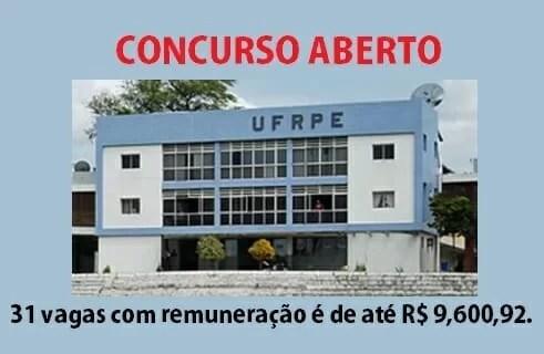 Concurso da Universidade Federal Rural de Pernambuco (UFRPE)