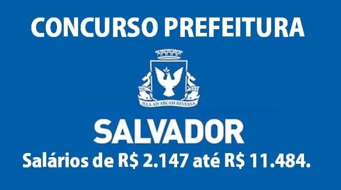 Concurso da prefeitura de Salvador 2019