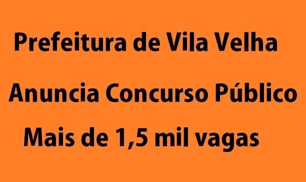 Prefeitura de Vila Velha, ES, anuncia concurso