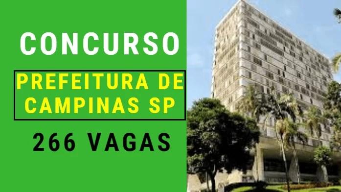 Concurso Prefeitura de Campinas SP Edital e informações