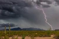 Sonoran Desert Monsoon lightning - Ajo, Arizona - Fred ...
