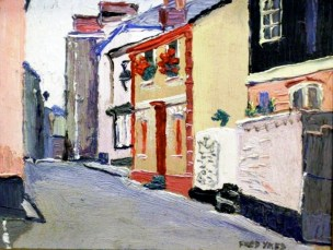 Fowey North St by Fred Yates