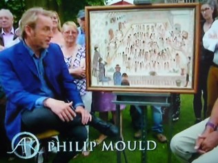 Philip Mould with the Fred Yates painting