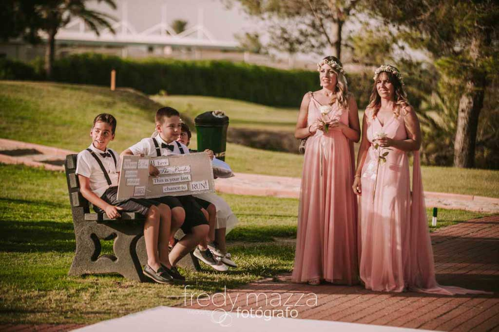 Wedding photographer La Manga Club Resort